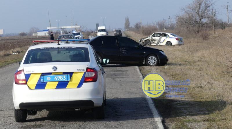 В Херсонской области в ДТП пострадали четверо сотрудников полиции